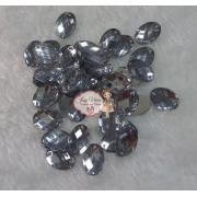 Chaton Cristal oval de costura sextavado 13x18 100g