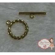 Conjunto Fecho dourado para pulseira adulto