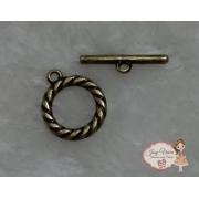 Conjunto Fecho Ouro velho para pulseira adulto