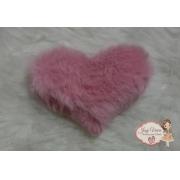 Coração tecido e pelucia Nude 6 cm(Cada)