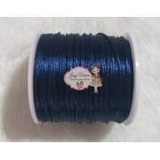 Cordão de Cetim 1mm Azul Marinho Cor 318 100m