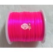 Cordão de Cetim 1mm Rosa Fluorescente Cor 03 100m