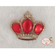 Coroa Dourada com pedra Vermelha (Par)