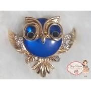Coruja Dourada com Azul(Par)