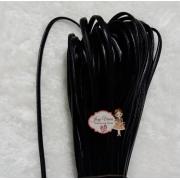 Courinho liso Preto 5mm (1 metro)