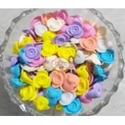 Entremeio Flor 14mm cores variadas 100g