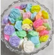 Entremeio Flor Colores variadas 19mm 100g