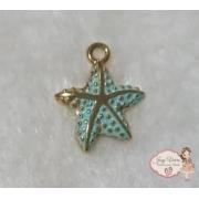 Estrela dourada com verde claro(1 unidade)