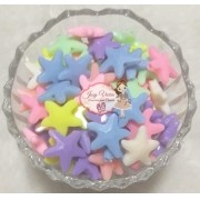 Estrela passante Leitosa M colorida 100g