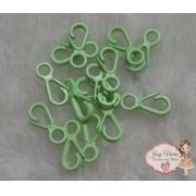 Fecho de plástico Verde (10 unidades)