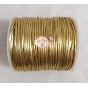 Fio de Couro Dourado 1 mm 100 metros