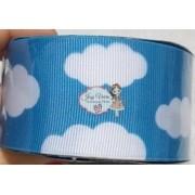 Fita GORGURÃO Newz Azul com nuvens  Rolo 10mx38mm