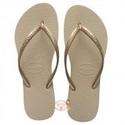 Havaiana SLIM Areia/Dourado Claro 35/36