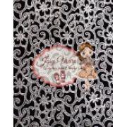 Lonita Flor e Formas prata fundo preto Tam 24x40