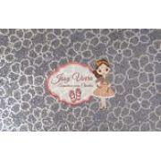 Lonita Flores com fundo prata 24x40
