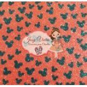 Lonita Mickey preto fundo vermelho Tam 24x40