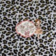Lonita Onça Dourada fundo prata Tam 24x40