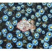 Lonita Preta com margarida Azul 24x40