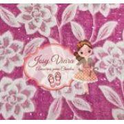 Lonita Rosa com Flores Branca 24x40