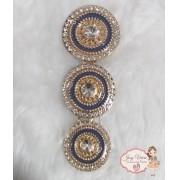 Mandala de Metal Dourado com Azul(Par)