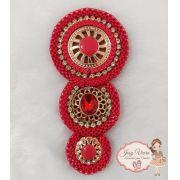 Mandala Vermelha(Par)