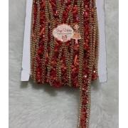 Manta Cascalho Vermelho escuro 15mm com corrente(1metro)
