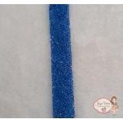 Manta Cravejada Azul Royal Tira 24x20mm