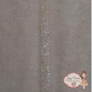 Manta Cravejada Cristal Tira 24x10mm