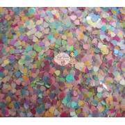 Paetê Coração 5mm coloridos 50g