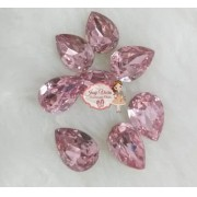 Pedra Resina Gota Rosa 10x14 (10 Unidades)