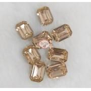 Pedra Resina Retângulo Dourada 10x14 (10 Unidades)