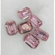 Pedra Resina Retângulo Rosa 10x14 (10 Unidades)
