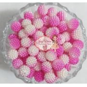 Pérola CRAQUELADA 500g Tam 12 Pink e Branco