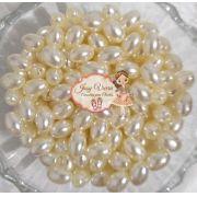 Pérola Oval Creme 6 mm 500g