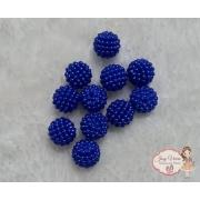 Pérolas ABS CRAQUELADA  Azul Escuro TAM 16  100g