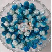 Pérolas ABS CRAQUELADA MESCLADA TAM 12 Cor Azul e Branco 100g