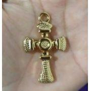 Pingente Cruz G Dourado (Unidade)