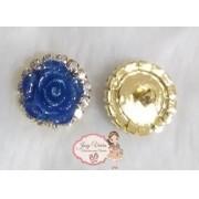 Pingente Flor Azul(Par)