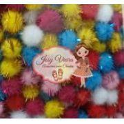 Pom Pom Bolinha Colorido Festão 1,5cm (100 Unidades)