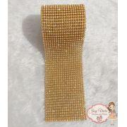 Rolinho de Manta Dourada com cristal (1,20x6cm)