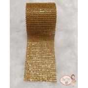 Rolinho de Manta Dourada com pedra Dourada (1,20x6cm)