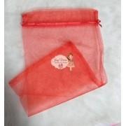 Saco de Organza Vermelho  20x35 (10 Unidades)