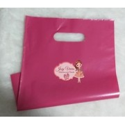 Sacola plástica Boca de palhaço Pink 25x35 (10 Unidades)