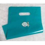 Sacola plástica Boca de palhaço Verde 30x40 (10 Unidades)