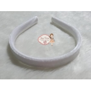 Tiara de veludo Branca 15mm (1 unidade)