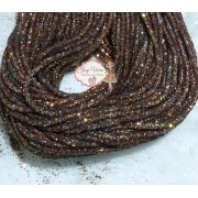 Tubo de PVC com  Glitter Marrom (1metro e 20cm)