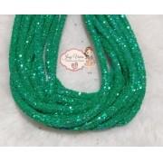 Tubo de PVC com  Glitter Verde (1metro e 20cm)