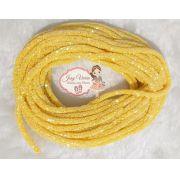 Tubo de PVC com  Glitter Amarelo (1m e 20cm)