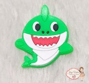Aplique Emborrachado Baby Shark verde (Unidade)