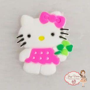 Aplique Emborrachado Hello Kitty(Unidade)